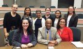 panelists with students